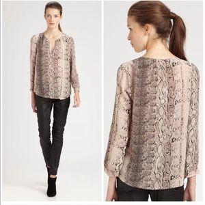 Banana Republic silk snake print blouse. NWT